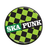 Ska punk (zelený) - button