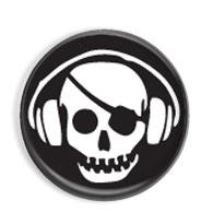 Skull pirát - button